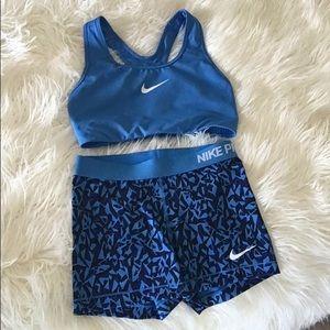 Nike Pro Shorts & Sports Bra